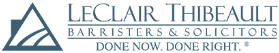 Leclair Thibeault Barristers & Solicitors Corporate Logo.  Calgary Law Corpoarte Logo